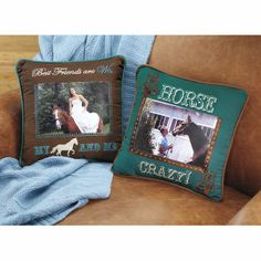 Horse Photo Pillow - Horse Themed Gifts, Clothing, Jewelry and Accessories all for Horse Lovers | Back In The Saddle