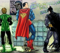 Lmao this is so funny to me first becuase of the poster and second because superman pee is just as strong as he is!! Lmao