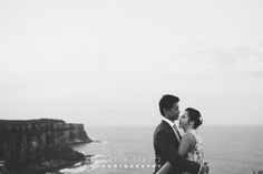 Erin & Andrew North Head Manly Wedding Photography #northheadmanlywedding #northhead #wedding #cliffedge