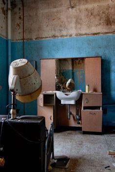 Vanity - Photo of the Abandoned Mentha State Hospital Old Buildings, Abandoned Buildings, Abandoned Places, Mental Asylum, Insane Asylum, Spooky Places, Haunted Places, Haunted Asylums, Haunted Houses