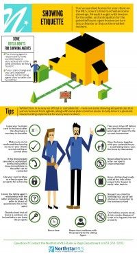 Rules Roundup: Showing Etiquette Infographic   NorthstarMLS Blog