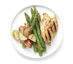 Grilled Chicken and Spring Vegetables | In the pecking order of weeknight staples, this family-friendly cut comes out on top. Turn it into a super-fast supper tonight with one of these easy recipes.