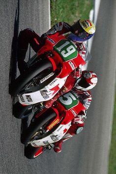 Jerez 1990 #19 John Kocinski and #5 Luca Cadalora