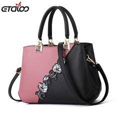 Women Handbag Top-Handle Satchel Bag,Ladies Large-Capacity Pu Leather Contrast Color Shoulder Bag Mother Gift