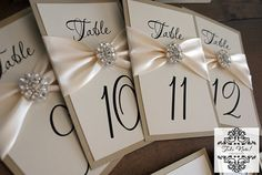 CLEARANCE / Wedding Table Number Cards / by TakeNoteCreations