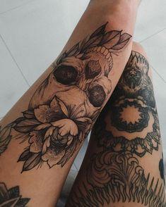 09fea9c6a7636 Alycastillo23 Tattoo Legs, Knee Tattoo, Leg Sleeve Tattoo, Diy Tattoo,  Tattoo Ink