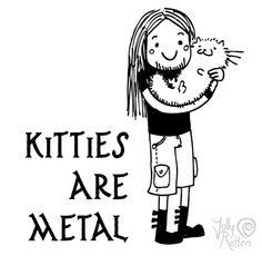 Kitties are metal by JollyRotten