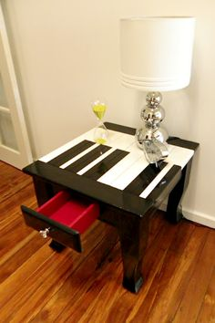 upcycled end table!