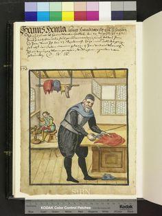 Tailor. Amb 317b.2 ° folio 79 verso. Die Hausbucher der Nurnberger Zwolfbruderstiftungen. 1610. German.
