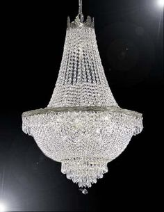 A93-SILVER/870/9 Empire Style CHANDELIER Chandeliers, Crystal Chandelier, Crystal Chandeliers, Lighting