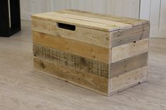 Reclaimed pallet box   #woodrecycling #socent #Brighton #pallet #reclaimedwood