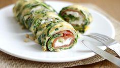 Inspiratie voor de lunch heb je nooit genoeg, toch? Probeer deze spinazie omelet met zalm en cottage cheese eens. Leuke variant op de cracker met kaas of sa