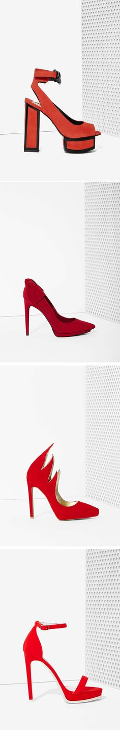 Put on your red shoes and dance! Red party heels and more @NastyGal