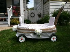 Wedding wagon for young flower girl or ring bearer weddings