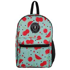 Add a fruity punch to your kit with this fresh melon and cherry design. In a zingy blue colourway, our Fruit Salad Backpack is a summer must-have that matches our funky SS19 activewear. Effortlessly zip up all your gym gear including towel, shoes, washbag and clothes.  Ideal for training, races, events, school or work, this rucksack can also double up as hand luggage for a unique and fun look. Soft adjustable straps allow you to distribute weight easily, leaving you hands-free. Shoe Sketches, Hand Luggage, Gym Gear, Long Boots, Dream Shoes, Toe Shoes, Vintage Shoes, Vera Bradley Backpack, Types Of Shoes