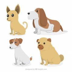 Pack de perros adorables