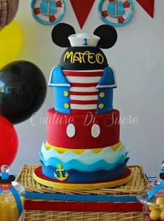 ***Sailor Mickey cake Three layers (omit the shirt layer)