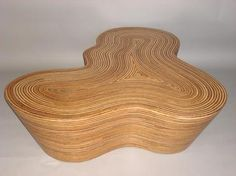 This is kind of beautiful  Organic Striped Wood Coffee Table | Mecox Gardens