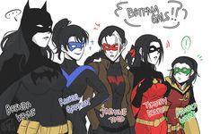 Comic Bat (Family, JL) - khi b là con gái - Page 4 - Wattpad Nightwing, Batwoman, Batgirl, I Am Batman, Batman Art, Batman Robin, Red Robin, Bat Boys, Dc Memes