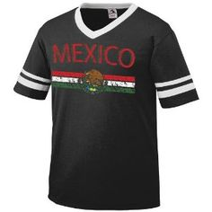 Mexico Crest International Soccer Ringer T-shirt, Mexican Soccer Mens Ringer T-shirt (Apparel)  http://macaronflavors.com/amazonimage.php?p=B003PUTHYM  B003PUTHYM