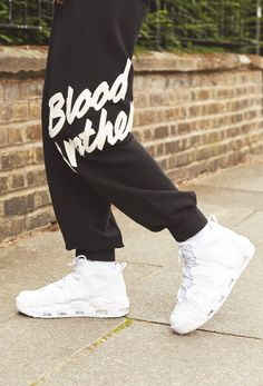 There s nothing like walking on Nike AIR. Blood Brother s logo track pants  take it to 9471e4a9c76d9