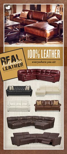 At American Signature Furniture, we aim to solve your homes issues. This time with real authentic leather sofas and sectionals! - DIY Home Decor Diy Home, Home Decor, Value City Furniture, Leather Furniture, Real Leather Sofas, Man Room, Lounge, Home Living Room, Home Projects