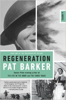"""Regeneration"" by Pat Barker. This book tells the story of soldier's being treated for shell shock during WWI at Craiglockhart War Hospital in Edinburgh.  CCSS.ELA-LITERACY.RH.9-10.10  (By: Kaitlan E.)"