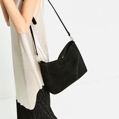 SPLIT SUEDE TOTE BAG-View all-BAGS-WOMAN | ZARA United States