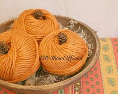 Quick, easy DIY fall craft - yarn pumpkins :: Hometalk