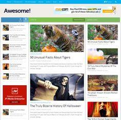 Brand Mag UX Responsive Blogger Template   Blog resources   Blog ...