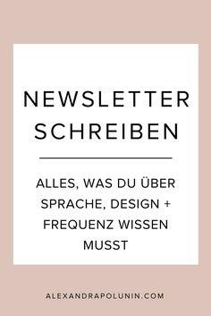 Newsletter schreiben – Sprache, Design, Frequenz — Alexandra Polunin