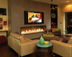 Fireplaces amd fireplace on one wall