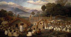 Speaking on a marae, 1885
