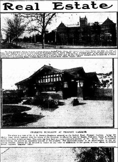 The Mail (Adelaide, SA : 1912 - 1954), Saturday 2 August 1919, page 11, Enfield Road, Prospect Gardens