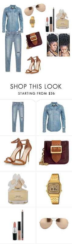 """see"" by blushford ❤ liked on Polyvore featuring Zara, Denim & Supply by Ralph Lauren, Burberry, Marc by Marc Jacobs, Casio, MAC Cosmetics and Linda Farrow"