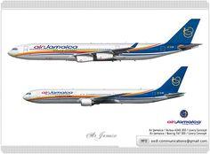 Air Jamaica / Airbus A340 300 / Livery Concept  Air Jamaica / Boeing 767 300 / Livery Concept