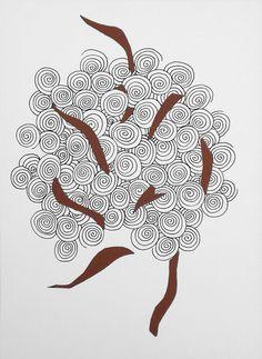 """andrea mattiello """"l'albero"""" pennarello e collage su cartoncino cm 25x35; 2013 #arte #art #contemporanea #drawing #disegno #collage #paper"""