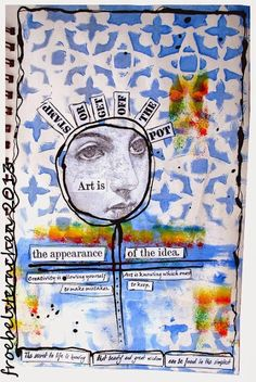 A few  Art Journal pages today and more