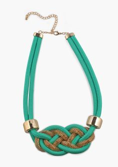 all roped statement necklace
