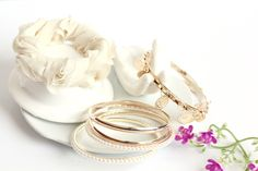 Korean Stylish Lace and Pearl Multilayer White Bracelets