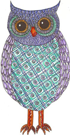 Owl Handmade Art Original 5x7 PrintOwlsOwl by TheOwlCollection, $15.00