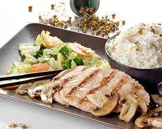 arroz, arroz basmati, camomila, cogumelos, legumes, infusão