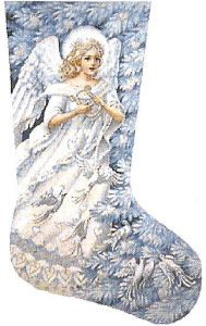 Angel with Doves Stocking by Tapestry Tent  21 x 14   18 count $398