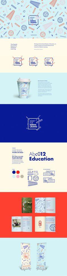 Council for Childrens Learning – Identity And Branding Study Logo Design, Brand Identity Design, Graphic Design Branding, Layout Design, Brochure Design, Branding And Packaging, Packaging Design, Logo Branding, Webdesign Inspiration