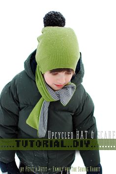 Such an easy upcycled hat and scarf sewing tutorial!!!