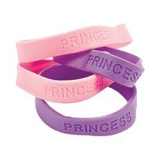 $3.75 Per Dozen - Princess Sayings Bracelets - OrientalTrading.com