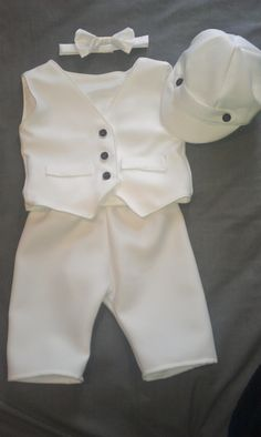 Baby Boy Baptism Outfit, Boy Christening Outfit, Boy Blessing Outfit with Hat by kickandgiggle on Etsy https://www.etsy.com/listing/162330925/baby-boy-baptism-outfit-boy-christening