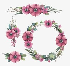 Watercolor flowers and garlands vector material, Leaves, Autumn, Maple Leaf PNG and Vector