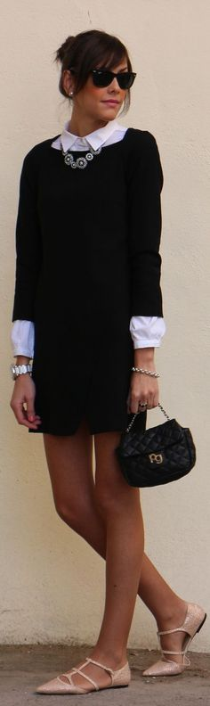 LBD + White Shirt by Be Trench