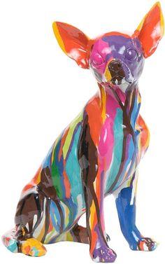 Interior Illusions Graffiti Chihuahua Sculpture
